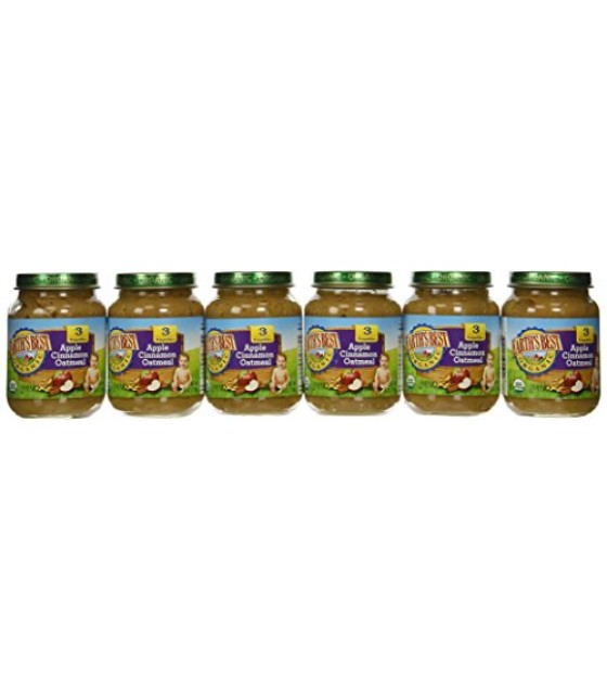 [Earth`S Best Baby Foods] Junior Foods Oatmeal, Apple Cinnamon  At least 95% Organic