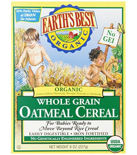 [Earth`S Best Baby Foods] Cereal Oatmeal  At least 95% Organic