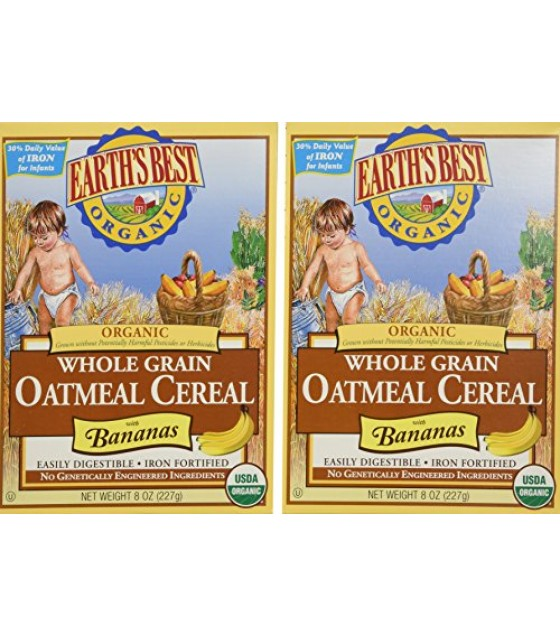 [Earth`S Best Baby Foods] Cereal Oatmeal w/Bananas, Whole Grain  At least 95% Organic