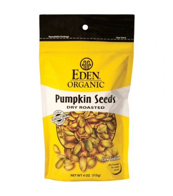 [Eden Foods] Snacks Pumpkin Seeds, Dry Rst & Salted  100% Organic