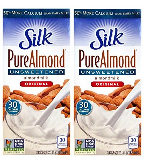 [White Wave] Silk Almond Milk Pure, Unsweetened Vanilla