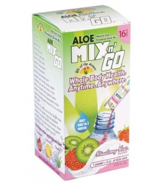 [Lily Of The Desert] Mix N Go-Alo Drink Strawberry Kiwi