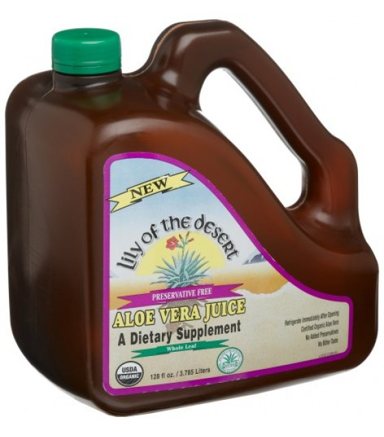 [Lily Of The Desert] Juices Aloe Vera, Whole Leaf, Preserv Free  At least 95% Organic
