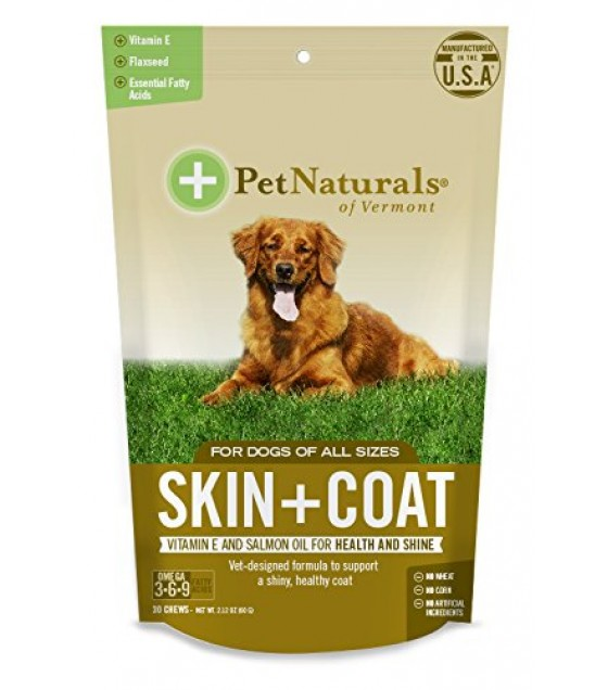 [pet Naturals Of Vermont] Skin & Coat,dog Chew