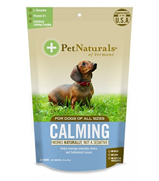 [pet Naturals Of Vermont] Calming Chews,dogs