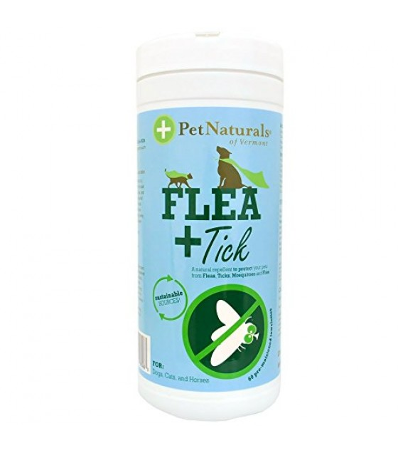 [Pet Naturals Of Vermont] Miscellaneous Flea & Tick Repellent Wipes