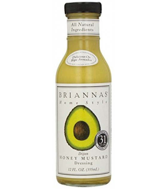 [Briannas] Salad Dressings Bottled Dijon Honey Mustard
