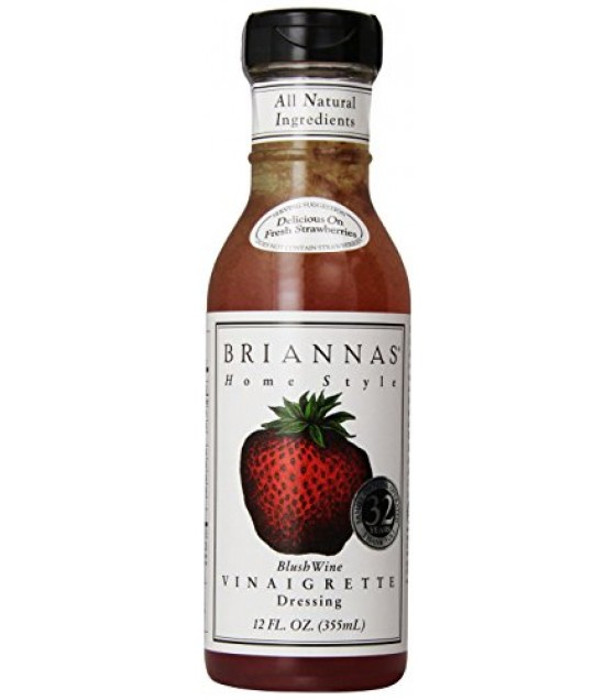 [Briannas] Salad Dressings Bottled Blush Wine Vinaigrette