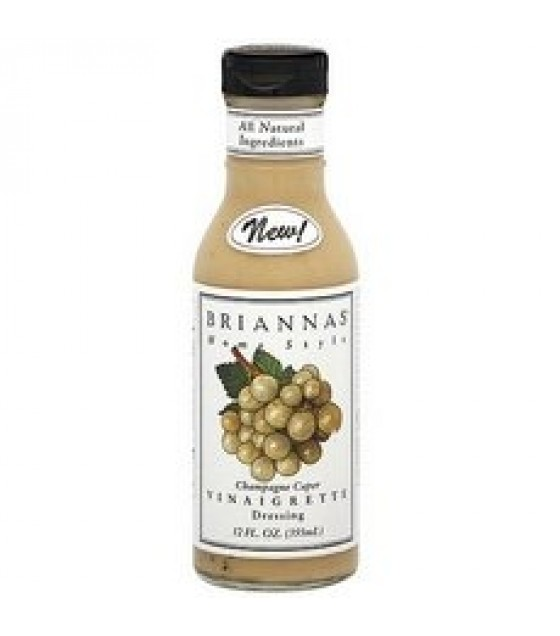[Briannas] Salad Dressings Bottled Champagne Caper Vinaigrette