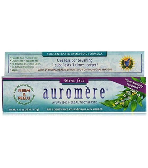 [Auromere Ayurvedic Products] Toothpaste Mint Free