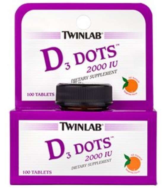 [Twin Lab] Vitamin A & D Vitamin D 2000 IU Dots 100