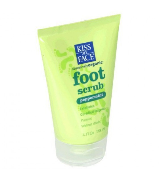 [Kiss My Face] Hand and Foot Care Foot Scrub, Peppermint