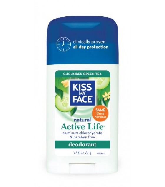 [Kiss My Face] Deodorants Active Life, Cucumber/Grn Tea