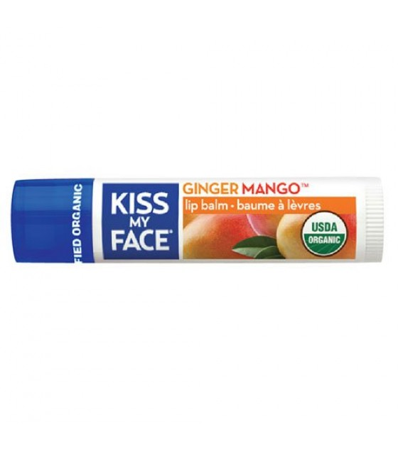 [Kiss My Face] Lip Balms Ginger Mango  At least 95% Organic