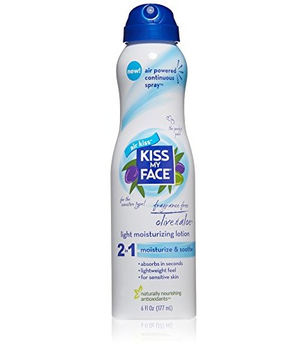 [Kiss My Face] Air Kiss Continuous Spray Lotion Frag Free, Olive & Aloe