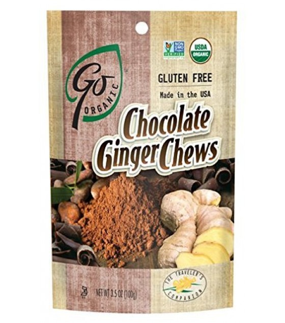 [Go Organic] Organic Candy Chews Chocolate Ginger  At least 95% Organic