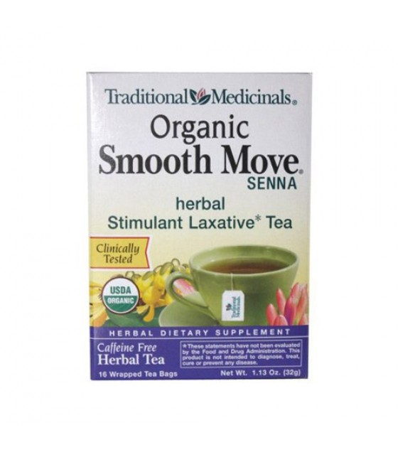 [Traditional Medicinals] Traditional Blends Smooth Move Senna  At least 95% Organic