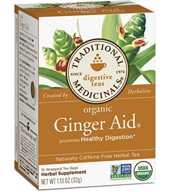 [Traditional Medicinals] Traditional Blends Ginger Aid Tea  At least 95% Organic