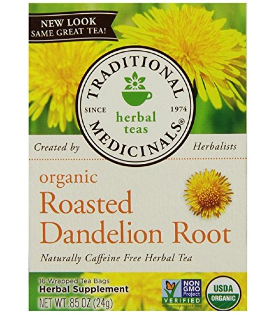 [Traditional Medicinals] Teas Roasted Dandelion Root  At least 95% Organic