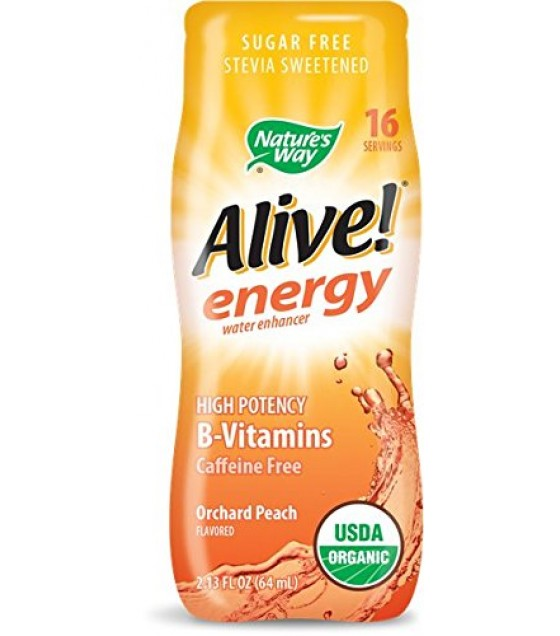 [nature's Way] Organic Alive! Energy; Peach