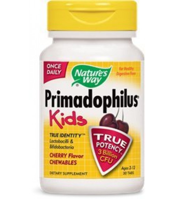 [Nature`S Way] Primadophilus Chewables, Cherry
