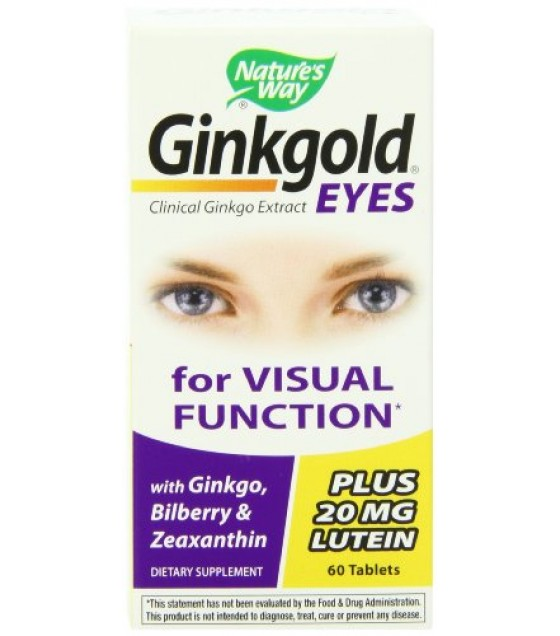 [Nature`S Way] Phyto Supplements Ginkgold Eyes 60 mg