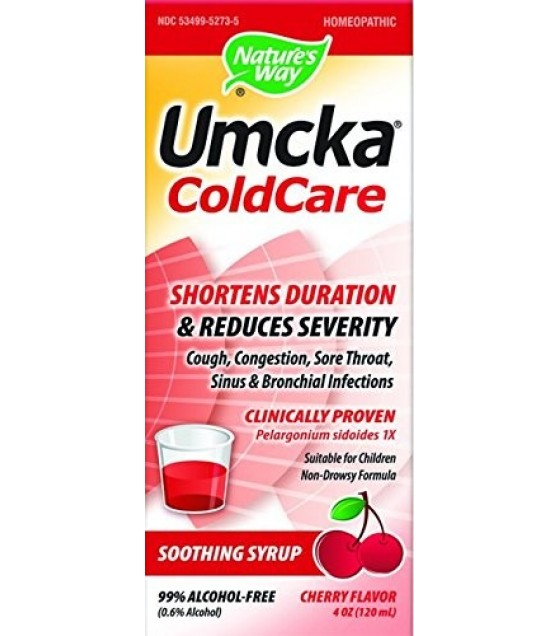 [Nature`S Way] Specialty Products Umcka Cold Care Syrup, Cherry