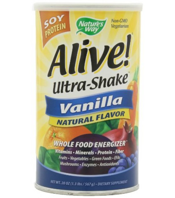 [Nature`S Way] Powders Alive Ultra Shake, Vanilla