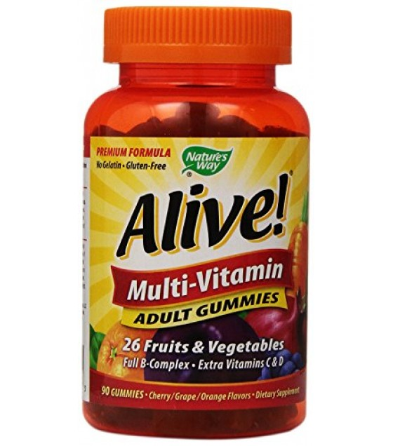 [Nature'S Way] ALIVE!MULTI-VIT,GUM,ADULT