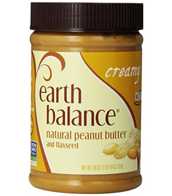 [Earth Balance] Nut Butters Peanut, Creamy w/Flaxseed