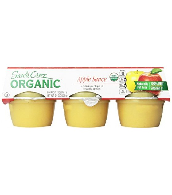 [Santa Cruz Organic] Organic Apple Sauce Cups Apple  At least 95% Organic