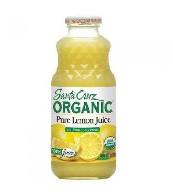 [Santa Cruz Organic] Organic 100% Single Strength Juice Lemon  At least 95% Organic