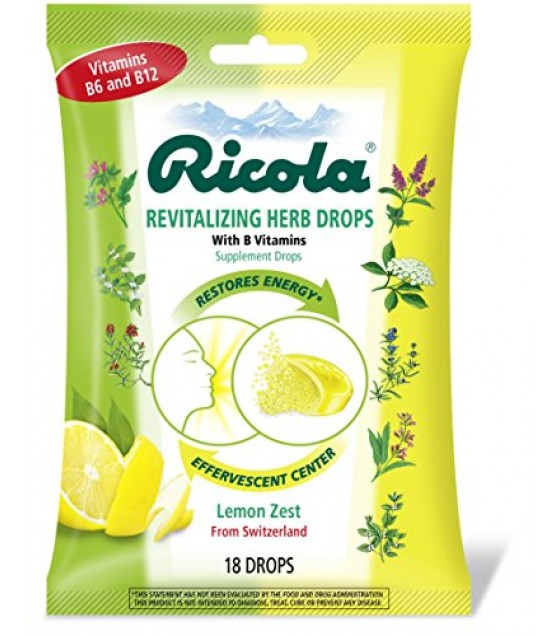 [Ricola] Natural Herb Cough Throat Drops Revitalizing Lemon Zest