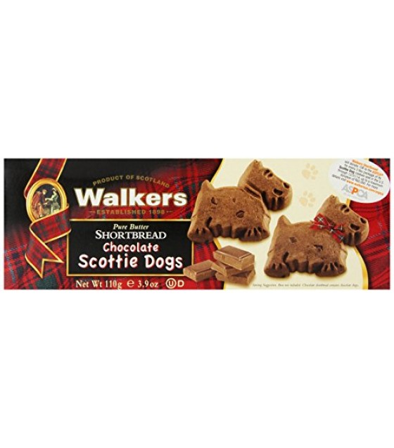 [Walker`S Shortbread] Shortbread Cookies Chocolate Scottie Dogs