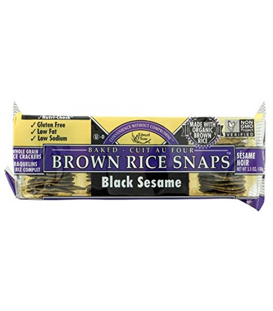 [Edward & Sons] Brown Rice Snaps Black Sesame  At least 70% Organic