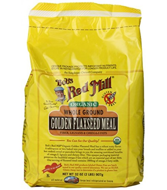 [Bob`S Red Mill] Miscellaneous Flaxseed Meal, Golden  At least 95% Organic
