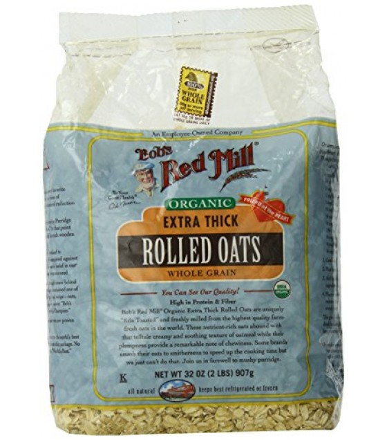 [Bob`S Red Mill] Cereals Oats, Thick Rolled  At least 95% Organic