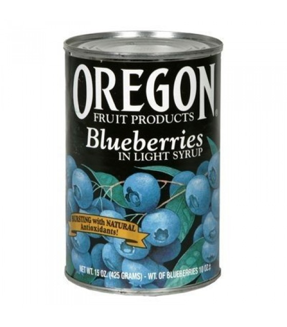 [Oregon Fruit] Canned Fruit Blueberries in Light Syrup