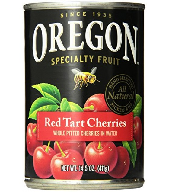 [Oregon Fruit] Canned Fruit Pie Cherries, Red Tart in Water