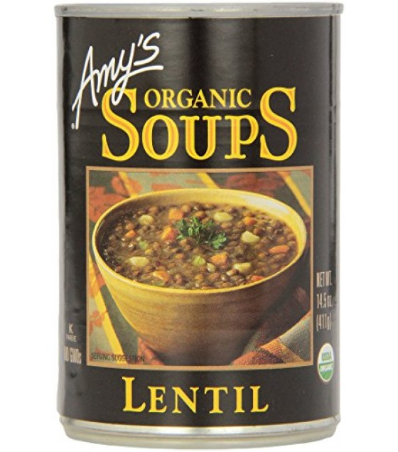[Amy`S] Soups Lentil  At least 95% Organic