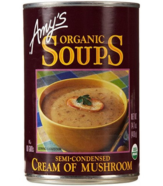[Amy`S] Soups Cream Of Mushroom  At least 95% Organic