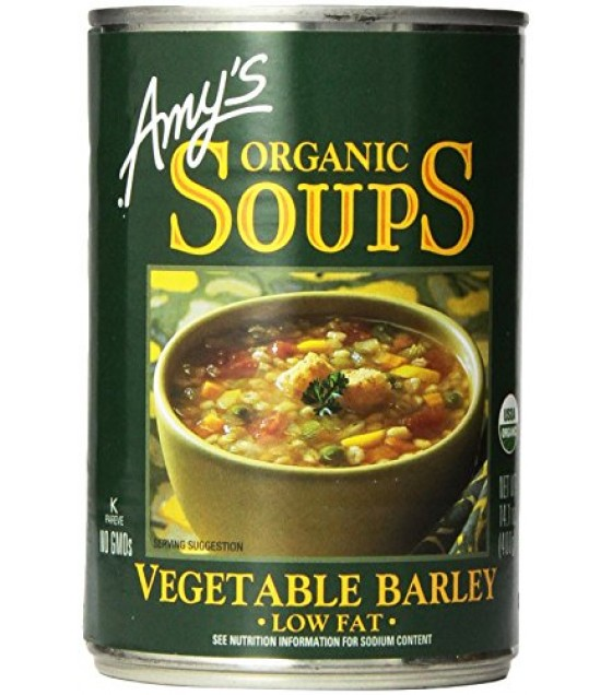 [Amy`S] Soups Vegetable Barley  At least 95% Organic