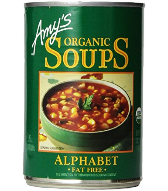 [Amy`S] Soups Alphabet  At least 95% Organic