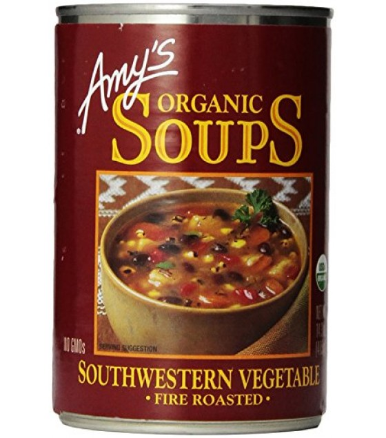 [Amy`S] Soups Vegetable, Fire Roasted Southwestern  At least 95% Organic