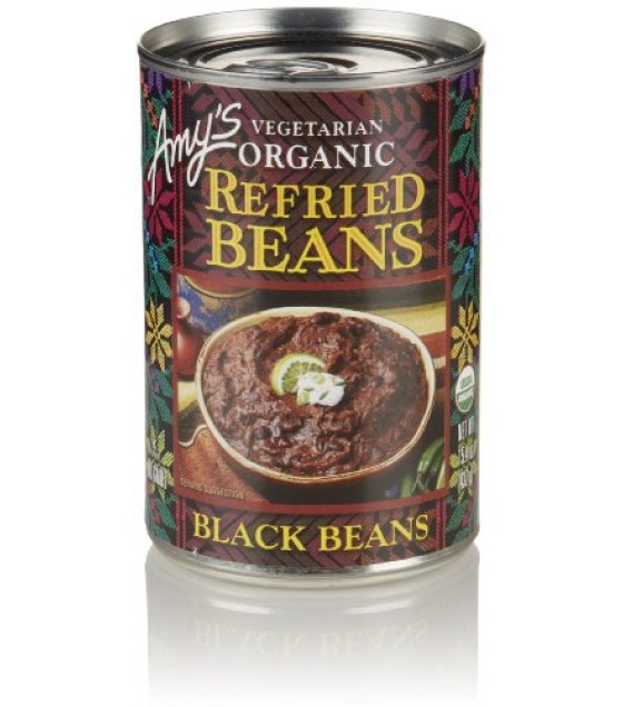 [Amy`S] Beans Refried Black  At least 95% Organic