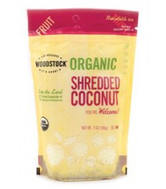 [Woodstock] Roasted/Flavored Nuts Coconut Medium Shred  At least 95% Organic