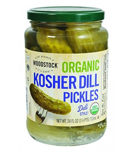 [Woodstock] Condiments Pickles, Kosher Dill, Whole  At least 95% Organic