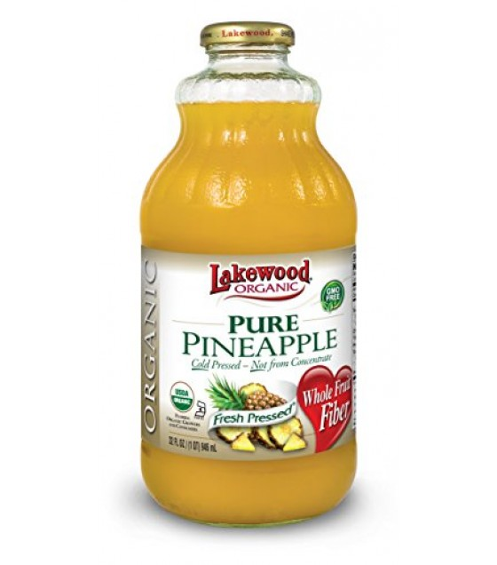 [Lakewood] Juices Pineapple, Pure  At least 95% Organic