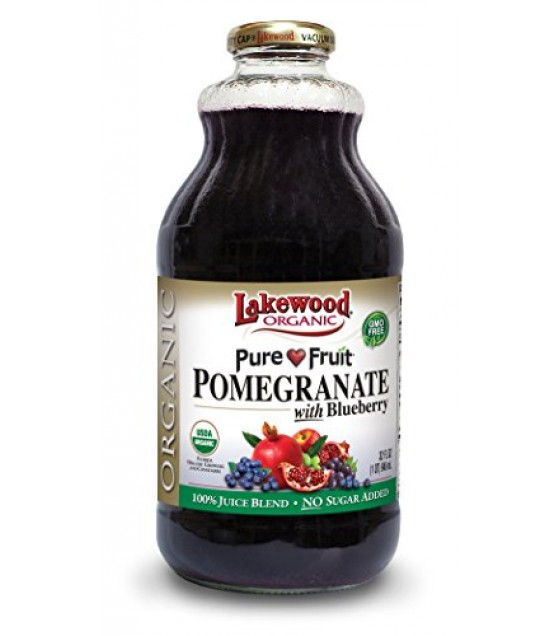 [Lakewood] Smart Healthy Juice Pomegranate Blueberry  At least 95% Organic