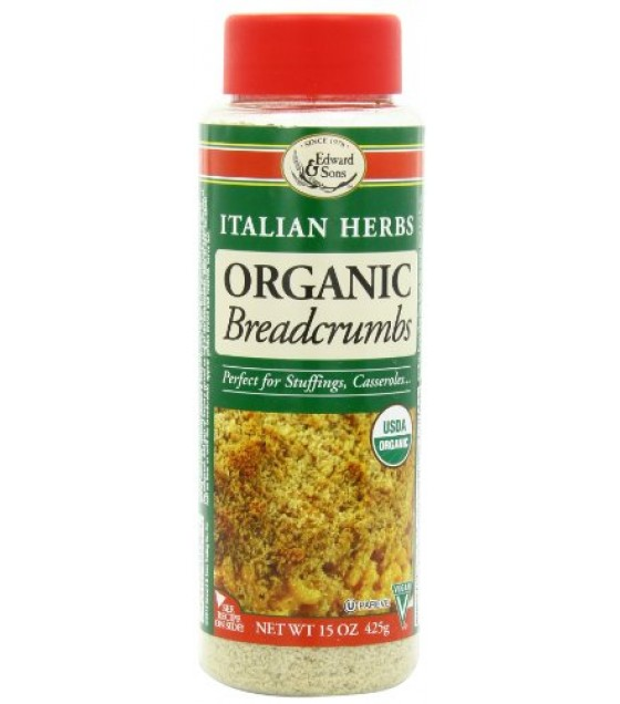 [Edward & Sons] Bread Crumbs Italian Herb  At least 95% Organic